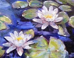 water lily painting google search