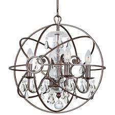 home rugs decor lighting chandeliers crystorama solaris 4 light clear crystal bronze mini chandelier