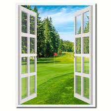 vancouver canada golf course view picture french window canvas print with frame gifts home decor wall on golf wall art canada with vancouver canada golf course view picture french window canvas print