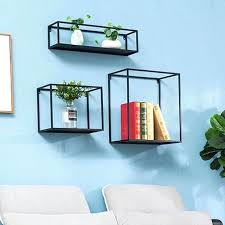 vintage retro cube wall shelves iron rolled steel flower book display home decor cube wall shelves
