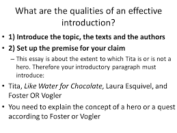 like water for chocolate ppt video online  what are the qualities of an effective introduction