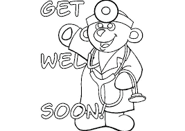 Feel Better Coloring Pages Feel Better Coloring Pages Get Well Soon