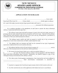 Sublease Form Download New Mexico Application To Sublease Form For Free