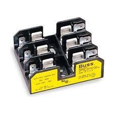 cooper bussmann bm6033pq 3 pole fuse holder 600 v 30 amp bm6033 bm6033pq midget fuse block 30 a