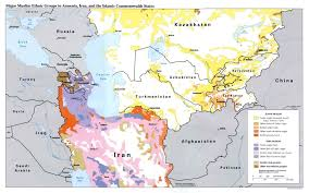 central asia maps eurasian geopolitics Map Cas cas and iran muslim ethnic groups map case