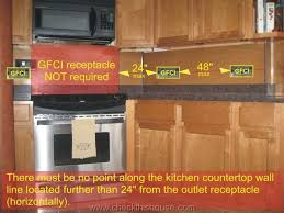 kitchen gfci there must be no point along the kitchen countertop wall line located further