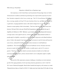 healthcare causal essay sample from assignmentsupport com essay wri  student 1 wr 222 essay 3 final draft disparities in health care as population ages
