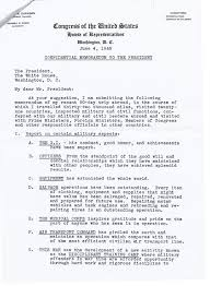 Study Guide: Confidential Memorandum To The President, June 4, 1945