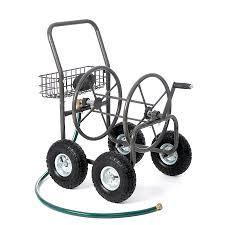 garden hose caddy. Liberty Garden Products Steel 250-ft Cart Hose Reel Caddy B