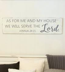 rustic signs home decor as for me and my house sign scripture wall art rustic wood