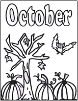 Small Picture October coloring page