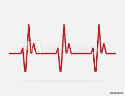 Fotografie Obraz Heartbeat Line Vector Icon Posterscz