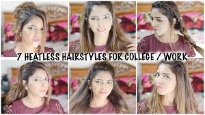 Simple Hairstyles For College 7 Easy Everyday Heatless Hairstyles For College Work 2016 Hina