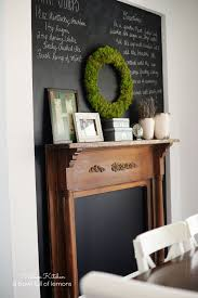 Retro Chalkboards For Kitchen Adding Vintage Character To A New Kitchen A Bowl Full Of Lemons