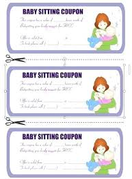 Printable Babysitting Coupon Template Oneskytravel Co