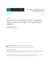 Creswell Research Design Pdf Book Review Creswell John 1997 Qualitative