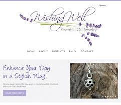 Essential Oil Website Design Website Design For Wishing Well Essential Oil Jewelry