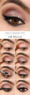 violet smokey eye gorgeous easy makeup tutorials for brown eyes