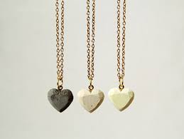 feel the love with concrete heart shaped necklaces