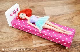homemade barbie furniture.  Barbie DIY Barbie Bed At Artsyfartsymamacom Dollfurniture BarbieFurniture With Homemade Furniture