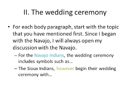 comparison contrast essay this essay explores the similarities and  7 ii the wedding ceremony