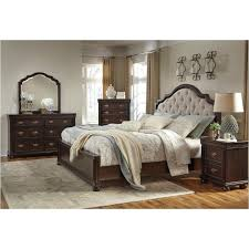 ashley furniture king bedroom sets. B596-57 Ashley Furniture Moluxy - Dark Brown Bedroom Bed King Sets S