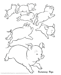 Printable Farm Animal Coloring Pages Spring Animals Coloring Pages