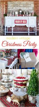 Modern Vintage Christmas themed party ideas, so pretty! Lots of Christmas  decor ideas!