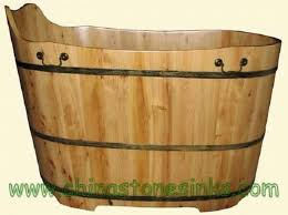 cedar wood bathtub