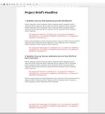 Project Brief Template Project Brief Template Kak24taktk 18