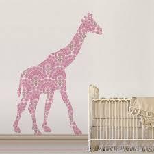 Superior Pink Giraffe Wallpaper Wallsticker