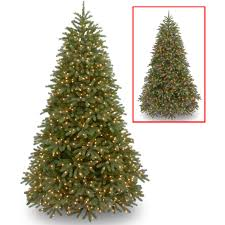 national tree pre lit 7 1 2 feel real jersey frasier fir um hinged artificial tree with 1000 low vole dual led lights and plastic caps