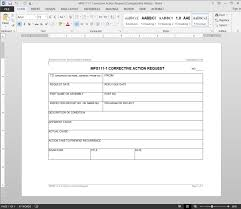 Corrective Action Forms Sponsorship Letter Form Employee Template ...