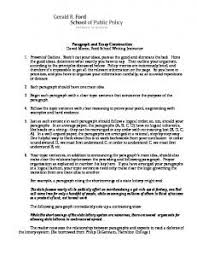 paragraph construction com paragraph and essay construction gerald r ford school of public