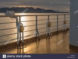 Three Nautical Cruise Ship Deck Walkway Metal And Brass