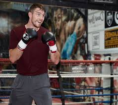 Callum Smith takes part in a training ...