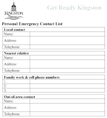 Employee Emergency Contact Form Template Employee Emergency Contact Template