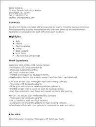 Painter Resume Gorgeous Construction Painter Resume Template Best Design Tips