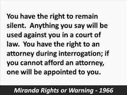 「Miranda rights」の画像検索結果