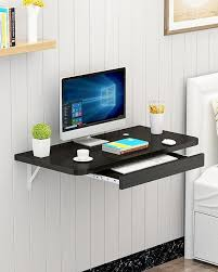 Desktop computer furniture Office Furniture Portable Table Laptop Table Simple Office Wallmounted Computer Desk Flat Black Home Stratosphere Buy Office Furnitures Best Price In Pakistan Darazpk