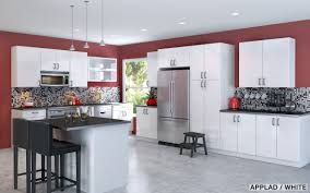 ... Kitchen Decor Large Size Modern Ikea Kitchen Design With White Wooden  Wall Cabinets And Drawers ...