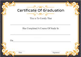 Free Sample Certificate Of Graduation Certificate Template