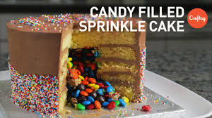 Decorating With Sprinkles Easy Cake Decorating Ideas Candy Filled Sprinkle Cake Cake