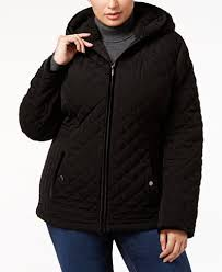 Laundry by Shelli Segal Plus Size Faux-Fur-Trim Quilted Coat ... & Laundry by Shelli Segal Plus Size Faux-Fur-Trim Quilted Coat Adamdwight.com
