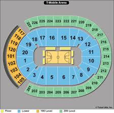 T Mobile Seating Chart Basketball T Mobile Arena Tickets Related Keywords Suggestions T