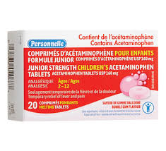 Jr Strength Acetaminophen Dosage Chart Junior Strength Childrens Acetaminophen Tablets 20 Units Bubble Gum