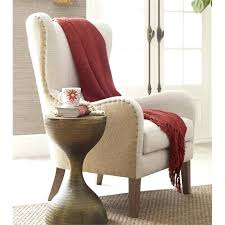 frightening decor mid century accent chair in beige wingback tufted accent chair