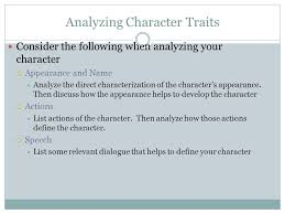 essay writing character analysis choosing a topic choose one of  analyzing character traits consider the following when analyzing your character  appearance and  analyze