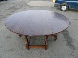 2 metre round antique table large round oak 17th century manner drop leaf farmhouse table