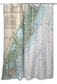 Tide Chart Hereford Inlet Nj Little Egg Inlet To Hereford Inlet Avalon Nh Single Shower Curtain